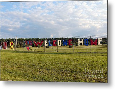 Metal Print featuring the photograph Welcome Home by Gina Savage