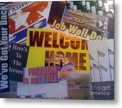 Welcome Home Metal Print by Paula Talbert