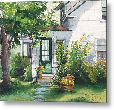 Metal Print featuring the painting Welcome by Joy Nichols