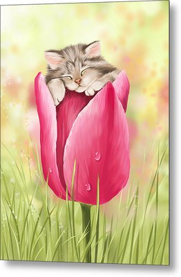 Welcome Spring Metal Print by Veronica Minozzi