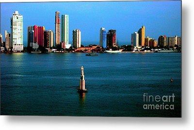 Welcome To Cartagena Colombia Metal Print by Ann Johndro-Collins