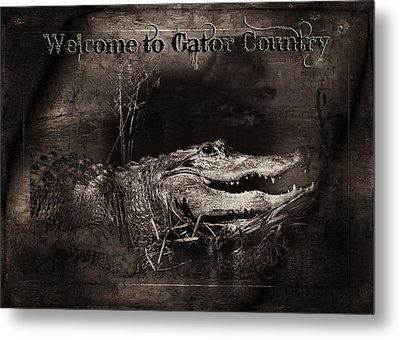 Welcome To Gator Country Metal Print