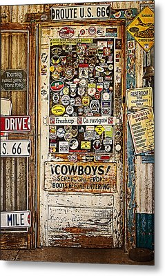 Welcome To Hackberry General Store Metal Print by Priscilla Burgers
