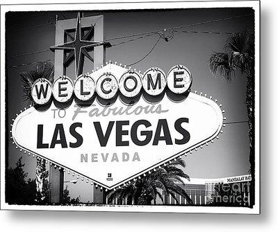 Welcome To Las Vegas Noir Metal Print by John Rizzuto