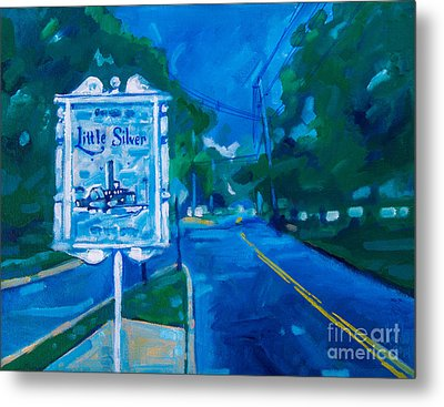 Welcome To Little Silver Metal Print by Michael Ciccotello
