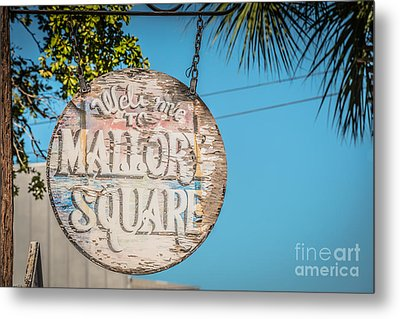 Welcome To Mallory Square Key West 2  - Hdr Style Metal Print by Ian Monk