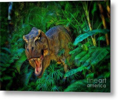 Welcome To My Park Tyrannosaurus Rex Metal Print