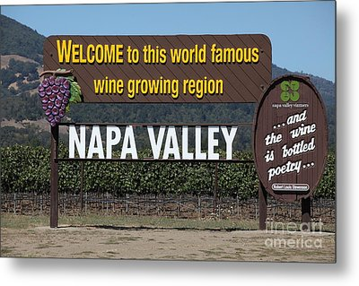 Welcome To Napa Valley California 5d29493 Metal Print by Wingsdomain Art and Photography