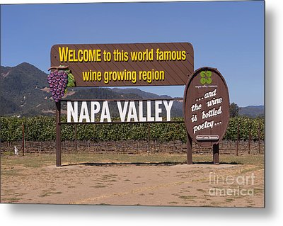 Welcome To Napa Valley California Dsc1681 Metal Print by Wingsdomain Art and Photography
