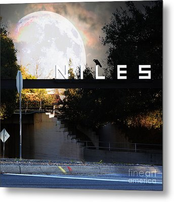 Welcome To Niles California Gateway To The Stars 7d12755 Square Metal Print