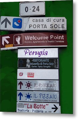 Welcome To Perugia Metal Print