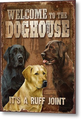 Welcome To The Dog House Metal Print by Nigel Hemming