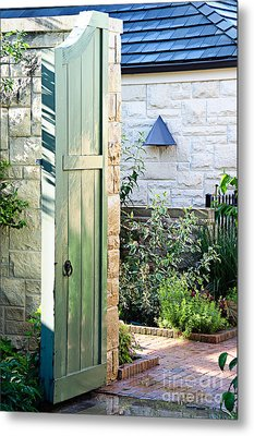 Welcome To The Garden Metal Print by Andee Design