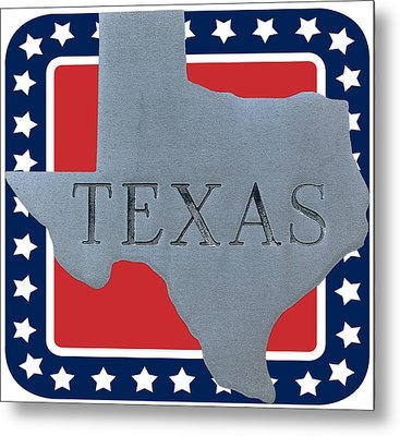 Welcome To The State Of Texas Metal Print by Christine Till
