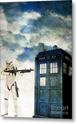 Welcome To The Time Wars Metal Print by Angelica Smith Bill