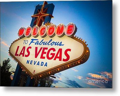 Welcome To Vegas Metal Print by Inge Johnsson