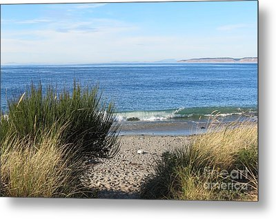 Welcoming Wave Metal Print by Gayle Swigart