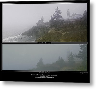 Metal Print featuring the photograph We'll Keep The Light On For You by Marty Saccone