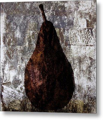 Well-read Pear Metal Print by Carol Leigh