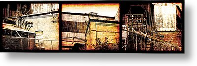 Welland Forge Triptych 1 Metal Print