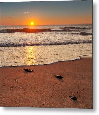 Wellfleet Sunrise Square Metal Print by Bill Wakeley