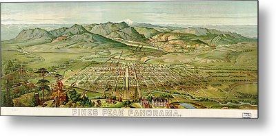 Wellge's Colorado Springs Birdseye Map - 1890 Metal Print