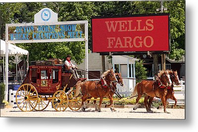 Metal Print featuring the photograph Wells Fargo At Devon by Alice Gipson