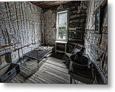 Wells Hotel Room 2 - Garnet Ghost Town - Montana Metal Print by Daniel Hagerman