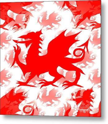 Welsh Dragon Metal Print