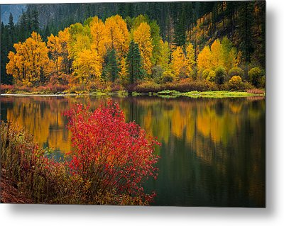 Wenatchee River Reflections Metal Print