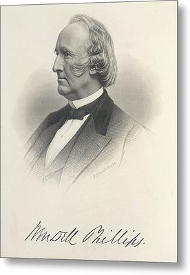 Wendell Phillips Metal Print by British Library