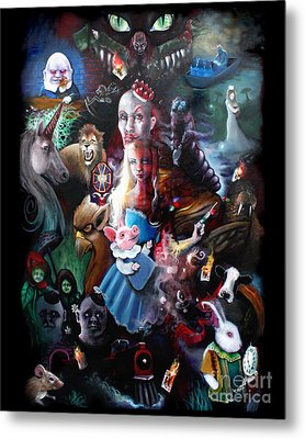 We're All Mad Here Metal Print by Michael Parsons