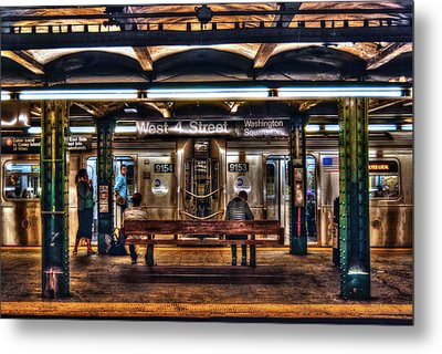 West 4th Street Subway Metal Print by Randy Aveille