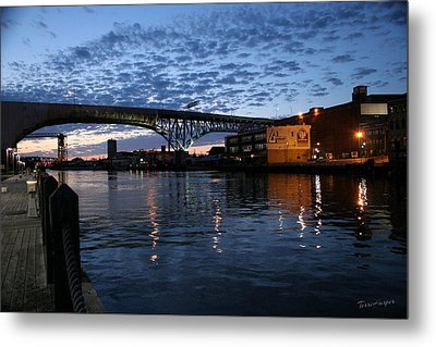 West Bank At Dusk Metal Print by Terri Harper