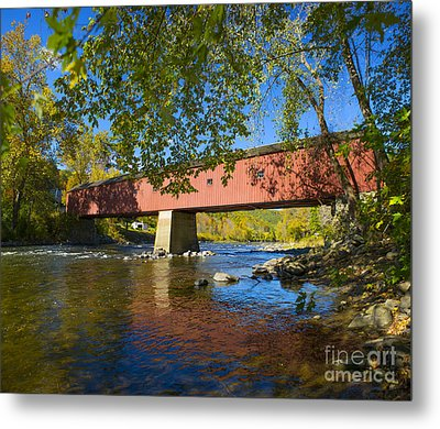 West Cornwall Covered Bridge Metal Print