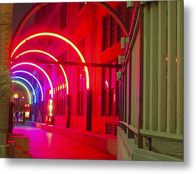 West End Archway In Dallas Metal Print by ARTography by Pamela Smale Williams