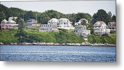 Metal Print featuring the photograph West End Long Island Maine by Richard Bean