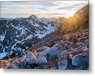 West From Evans Metal Print by Adam Pender
