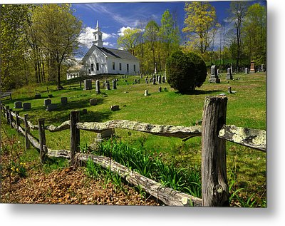 Metal Print featuring the photograph West Guilford Church by Paul Miller
