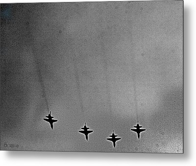 Metal Print featuring the photograph West Point Jets by Lorella  Schoales