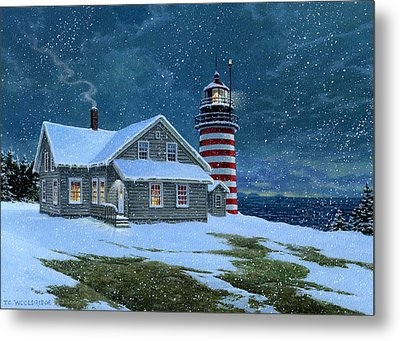 West Quoddy Lighthouse Metal Print by Tom Wooldridge