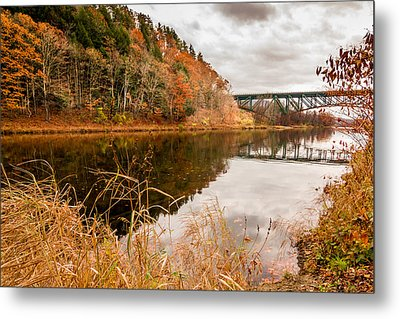 Metal Print featuring the photograph West River At Interstate 91 by Jeremy Farnsworth