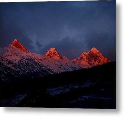 West Side Teton Sunset Metal Print
