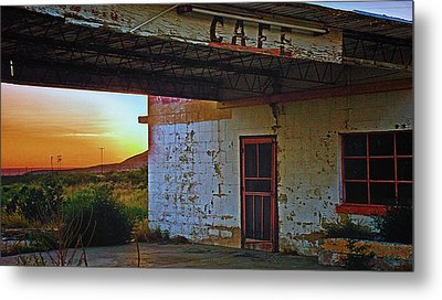 West Texas Cafe Metal Print by Brian Kerls