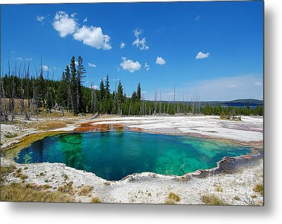 West Thumb Abyss Pool Metal Print