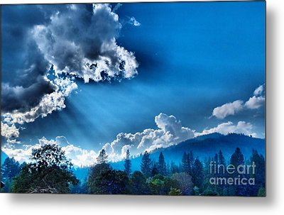 Westerly Clouds Metal Print