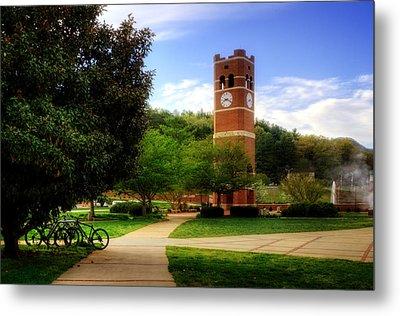 Western Carolina University Alumni Tower Metal Print by Greg and Chrystal Mimbs
