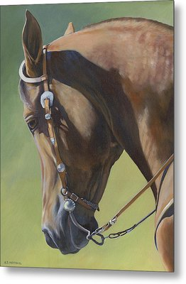 Metal Print featuring the painting Western Elegance by Alecia Underhill