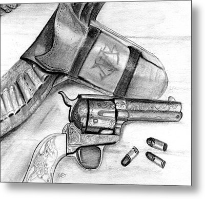 Western Guns Metal Print by Michele Engling