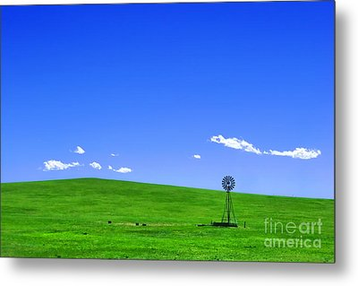 Western Hill  Metal Print by Olivier Le Queinec